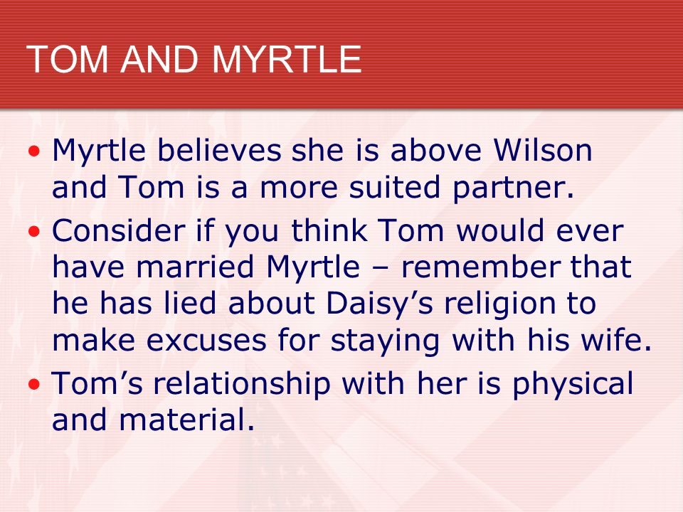 tom and daisy relationship chapter 1