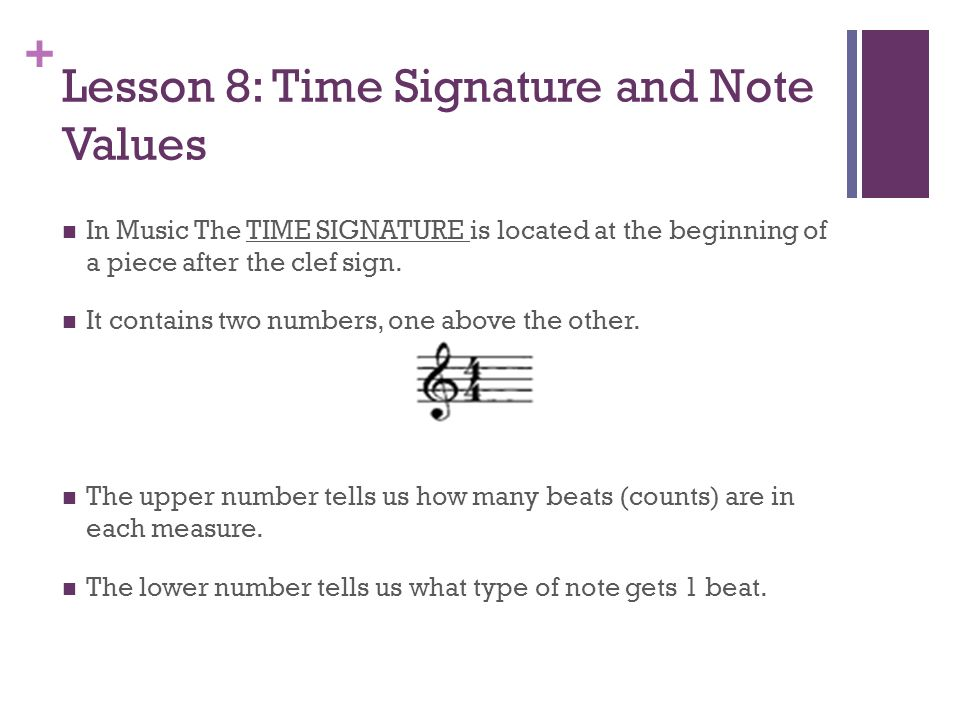 Notes on time signature and the