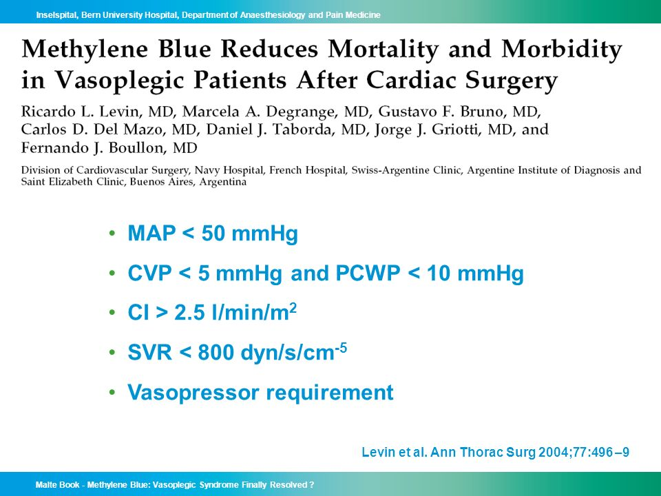 CVP < 5 mmHg and PCWP < 10 mmHg CI > 2.5 l/min/m2
