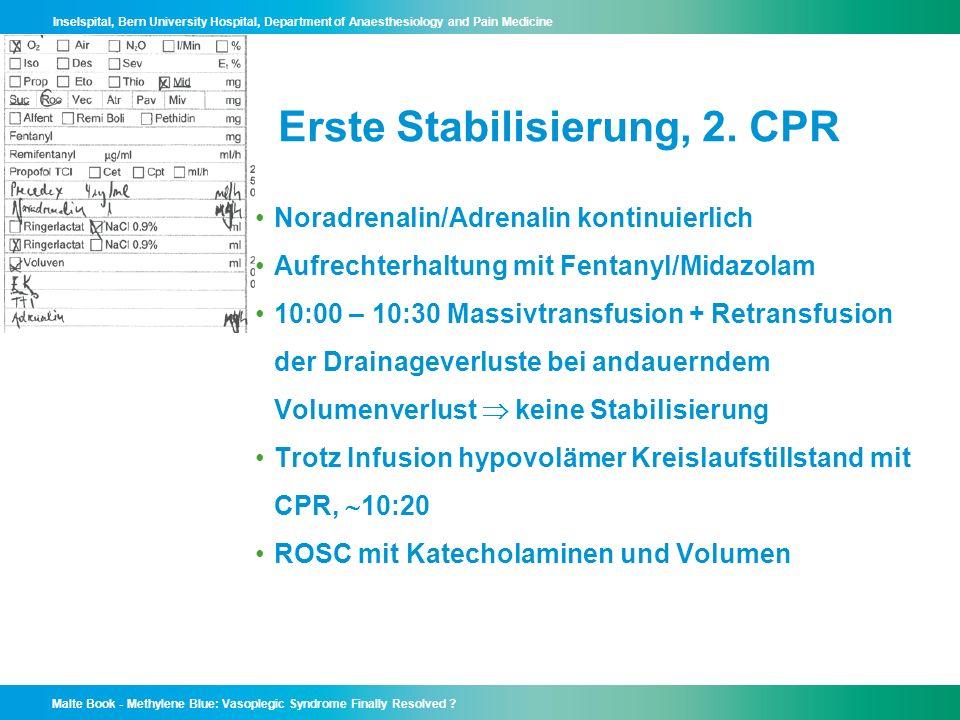 Erste Stabilisierung, 2. CPR