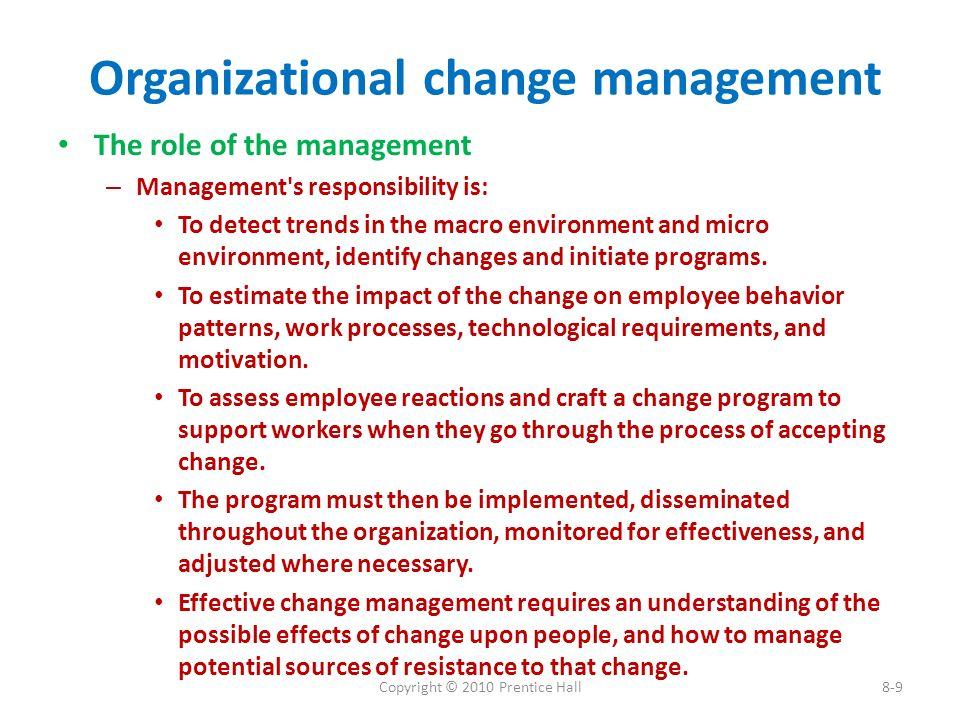 change management resumes