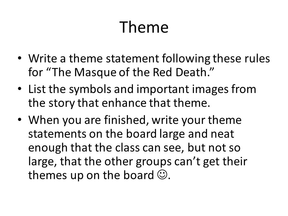 the masque of the red death theme essay