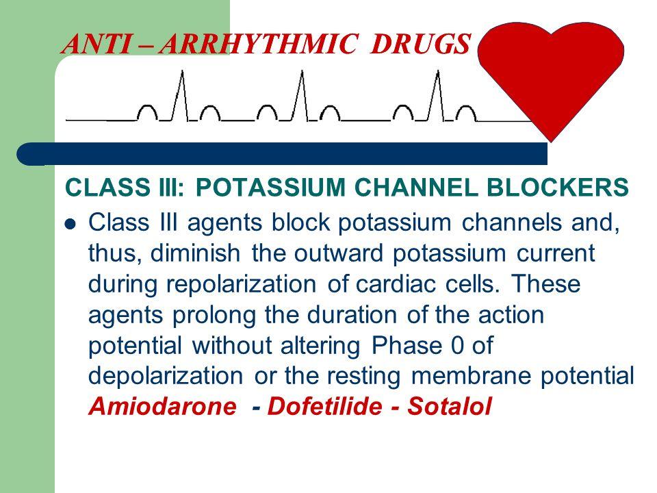 CLASS III: POTASSIUM CHANNEL BLOCKERS