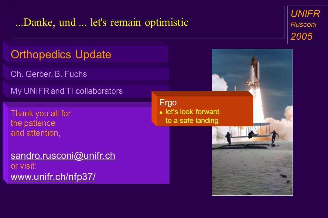...Danke, und ... let s remain optimistic