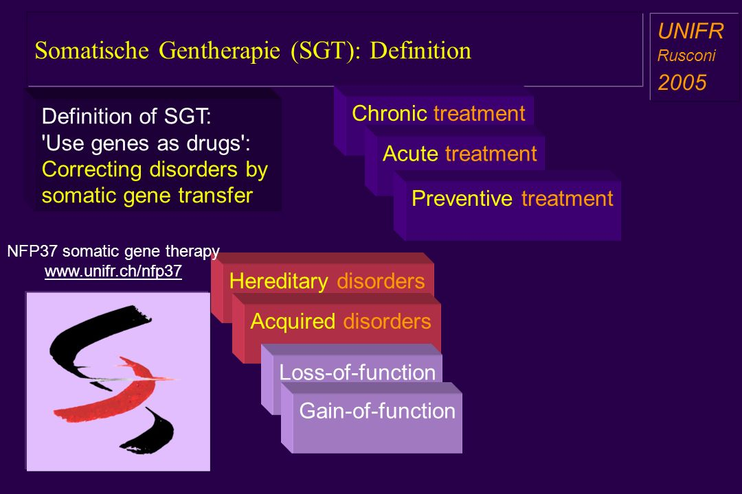 Somatische Gentherapie (SGT): Definition