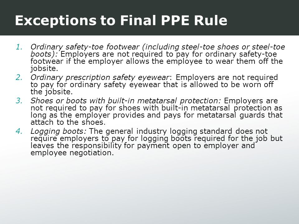 personal protective equipment ppe proposal essay Personal protective equipment (ppe) is the term that refers to protective clothing like goggles or helmets to save an individual from any injury.