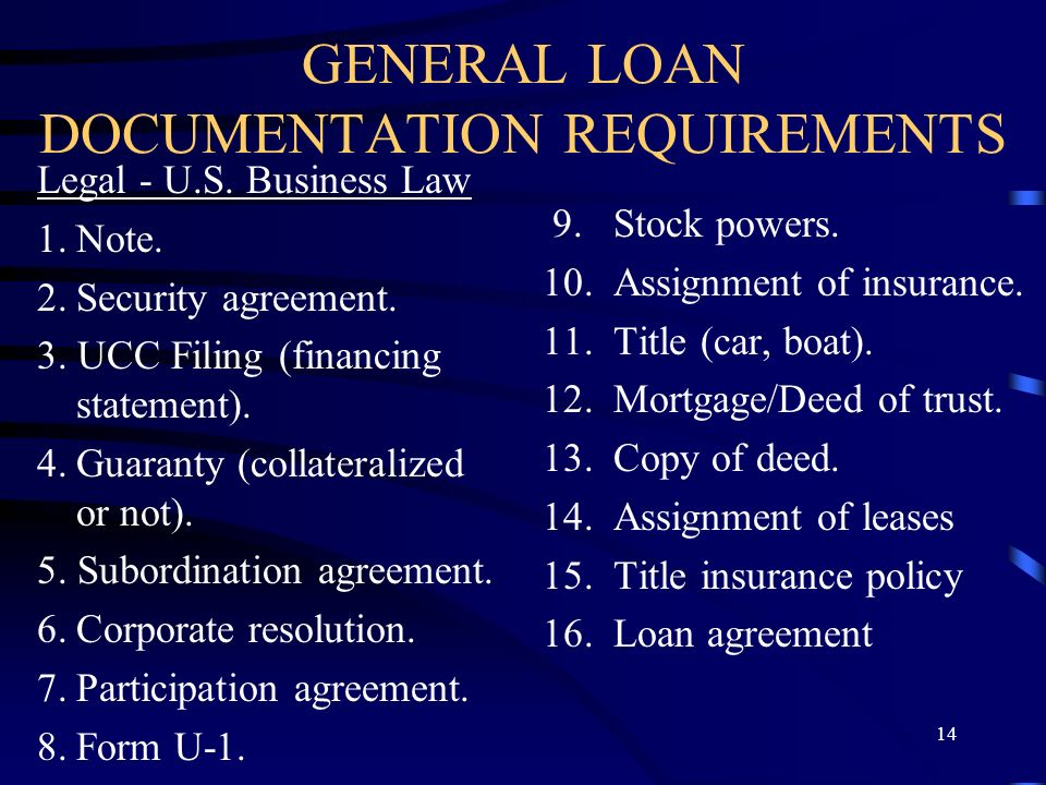 100 general loan and collateral agreement 95 best