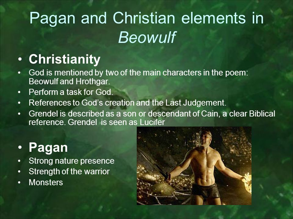 beowulf christian elements Paganism and christianity in beowulf christopher riesenberg loading unsubscribe from christopher riesenberg  beowulf: story, characters,.