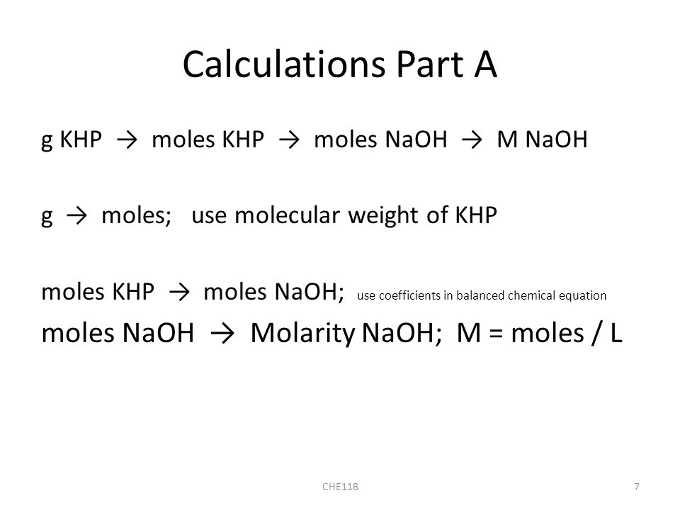 titration lab of naoh and khp The reaction between khp and naoh is shown by the balanced equation khc8h4o4 + naoh = nakc8h4o4 + h2o khp stands for potassium hydrogen phthalate, which has the chemical formula khc8h4o4 when khp and naoh combine, a positive hydrogen ion leaves the khc8h4o4 and a negative hydrogen atom leaves the.