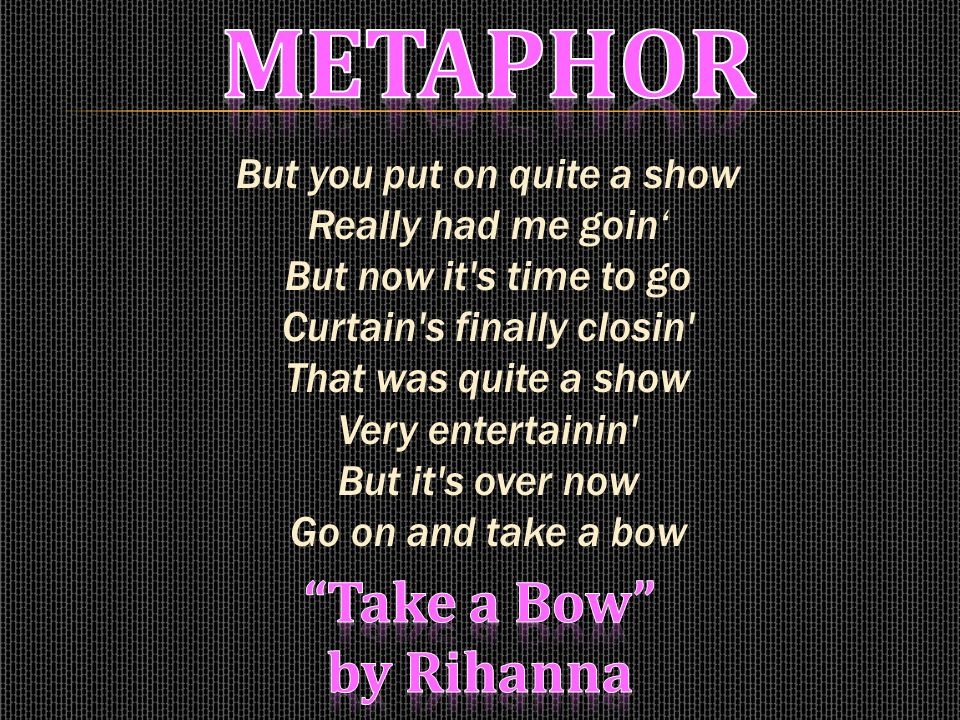 Rihanna - Take A Bow Lyrics   MetroLyrics