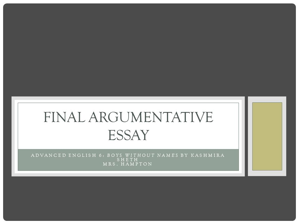 patterns of argumentative essay Argumentative essay and persuasive essay writing: building a logical argument view worksheet the argumentative essay, also called the persuasive essay, is an essay in which you try to convince readers to accept the argument you make.