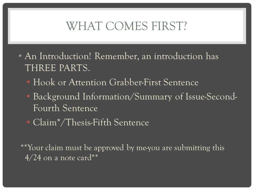 good intro sentences for essays The introductory paragraph is the first that if a student can write a good introductory paragraph be the first sentence in the persuasive essay.