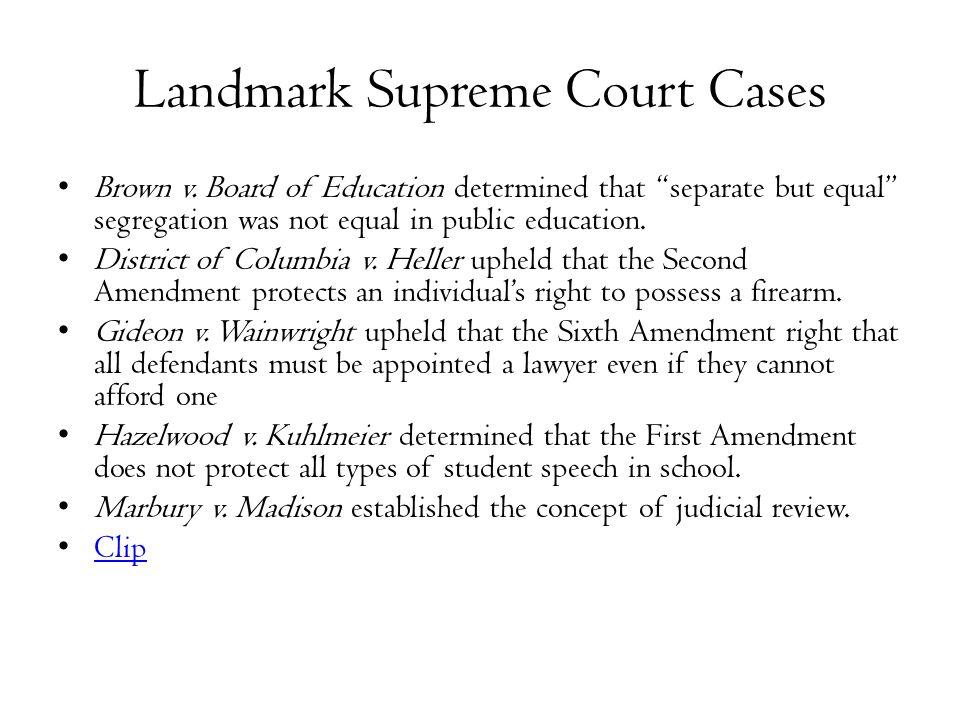 Landmark Supreme Court Decisions Half Pencil