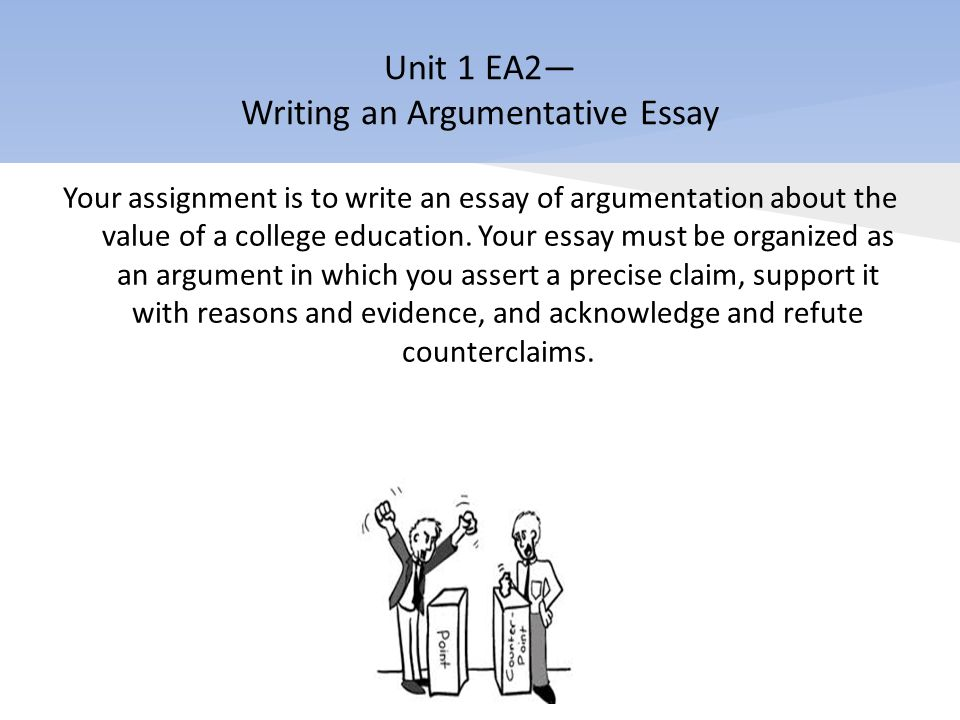 english i honors ppt video online  unit 1 ea2 writing an argumentative essay