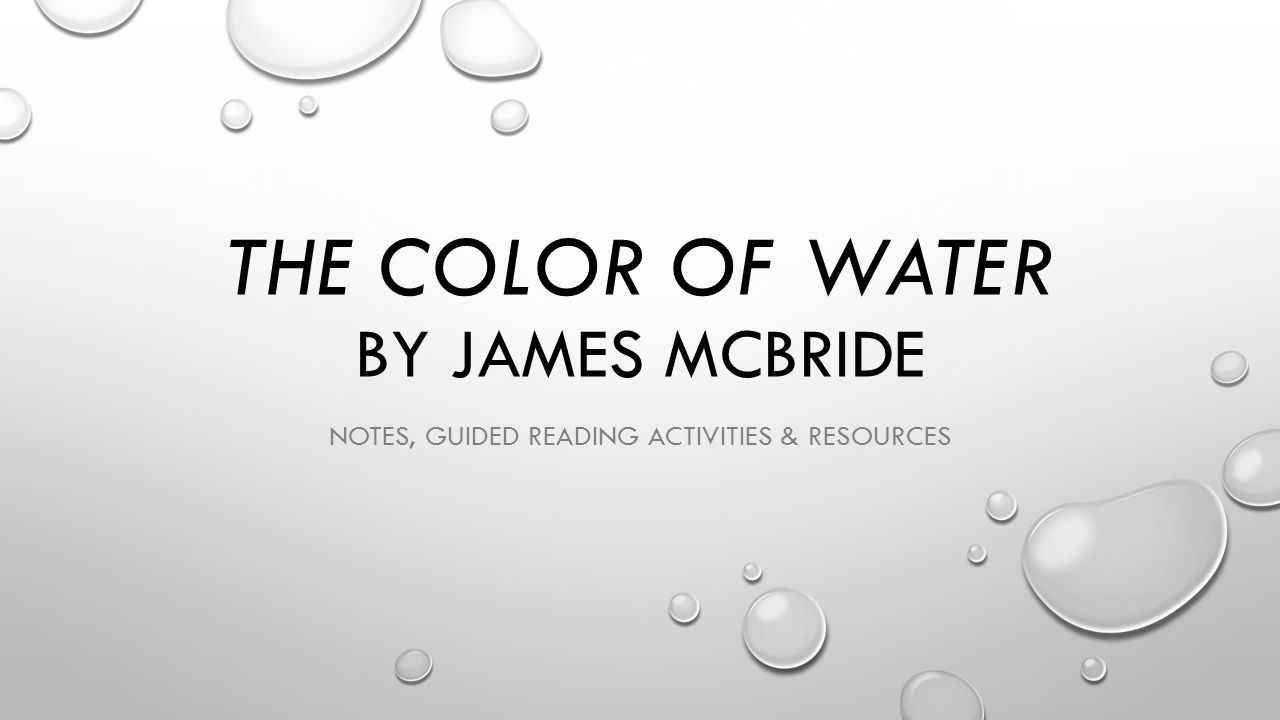 The Color of Water Short Answer Test - Answer Key
