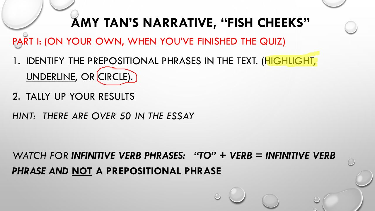 fish cheeks by amy tan In the story fish cheeks by amy tan the author shows the message that you should be proud of your origins and who you are she does this by using irony, mood and symbolism the author of fish cheeks uses irony to show that you should be proud of who you are.
