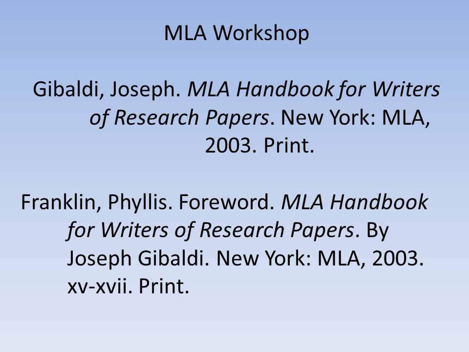 mla handbook for writers of research papers 6th edition by joseph gibaldi Images to be included in the submitted article however, to facilitate publication  the  gibaldi, joseph mla handbook for writers of research papers 6th ed.