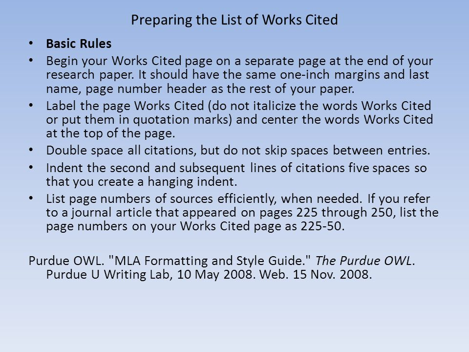 purdue owl formatting Mla purdue owl mla formatting videos if your'e wondering how to insert a page header, adjust margins, and indent paragraphs, the following videos, created by purdue online writing lab (owl), may be helpful.