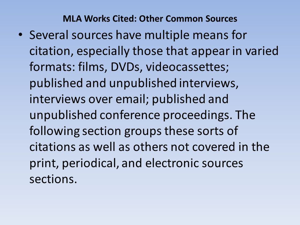 mla citation dissertation