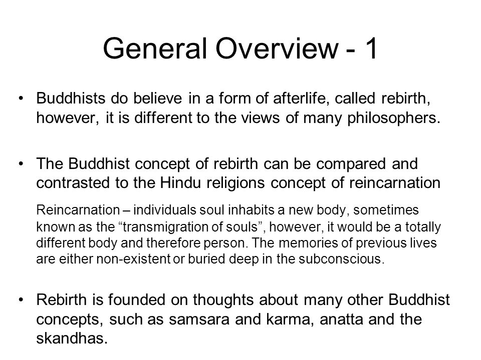 the christian and buddhist perspectives on death and the afterlife Buddhist afterlife beliefs from the perspective of present-day as it is with buddhism, near-death experiences have described this light in the.