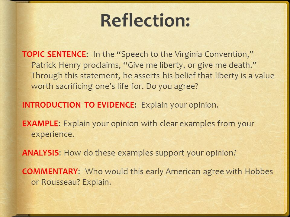 "Patrick Henry ""Give Me Liberty or Give Me Death"" Speech Rhetorical Analysis Essay"