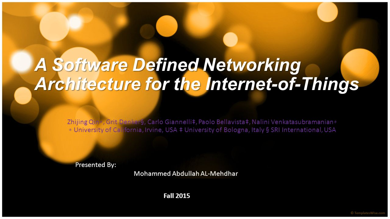 A software defined networking architecture for the internet of a software defined networking architecture for the internet of things baditri Images
