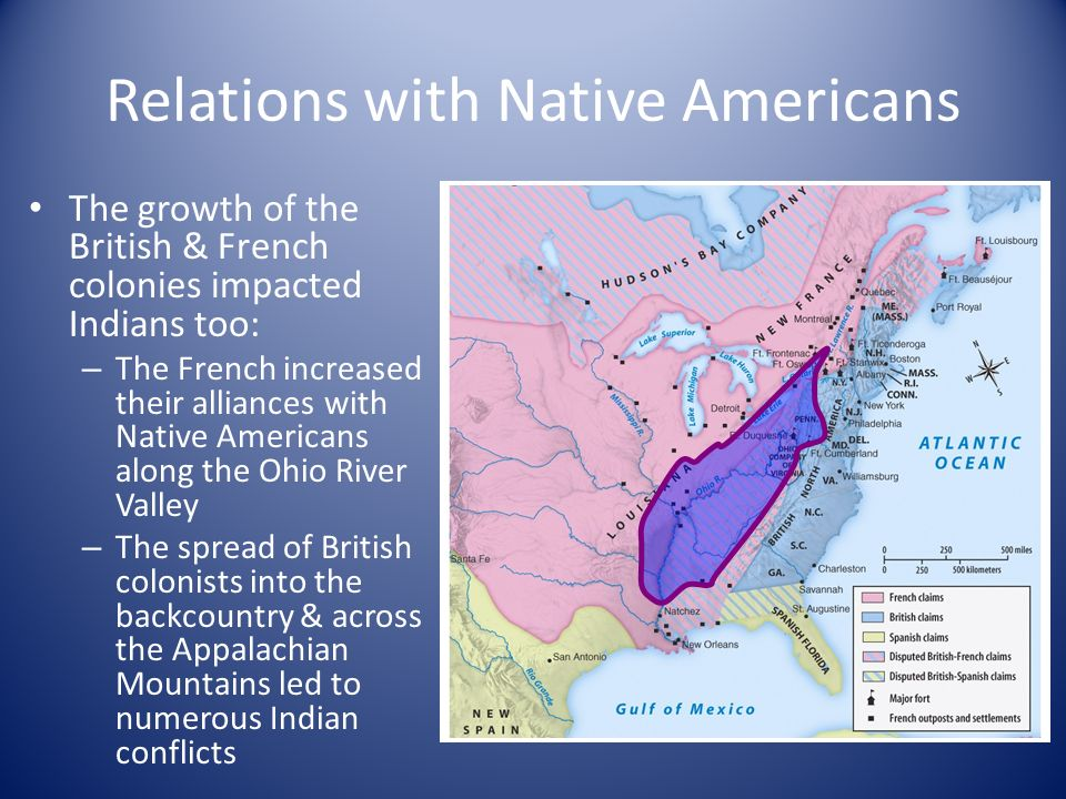 a comparison of french and english relations with native americans That range from native relations with the colonial french, spanish, and british up to the efforts to native americans and american history.