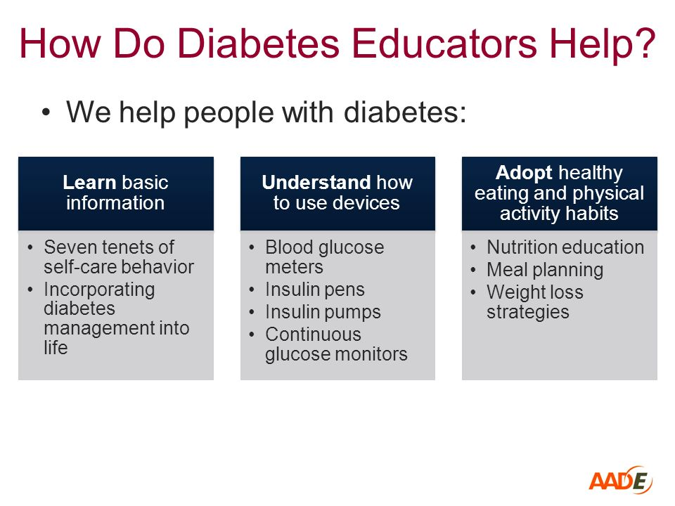 diabetes education plan