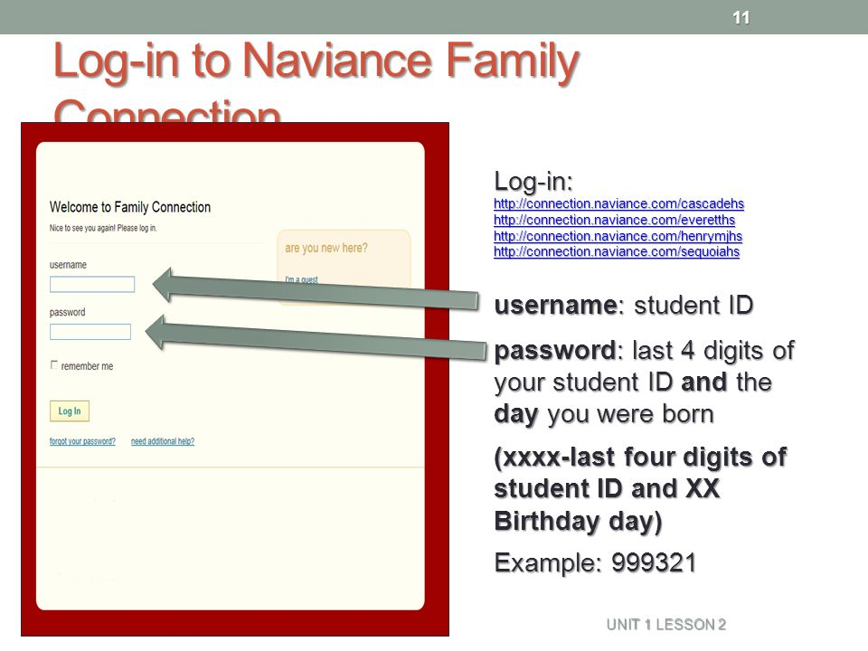 resume naviance family connection