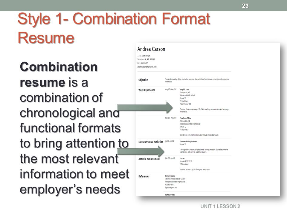 combination chronological and functional resume sle 28