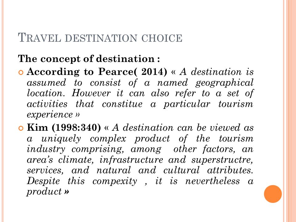 travel motivations and destination activities of This report is based on the 2006 travel activities and motivations survey (tams), which examined the recreational activities and travel habits of canadians and americans looking at their travel behaviour over the past two-year period.