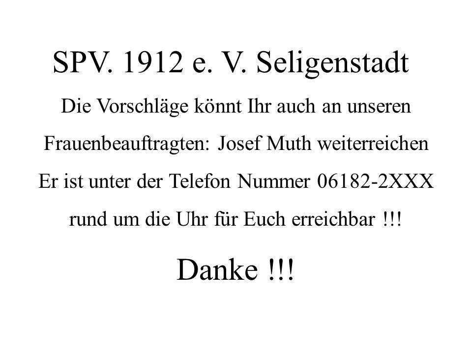 SPV. 1912 e. V. Seligenstadt Danke !!!