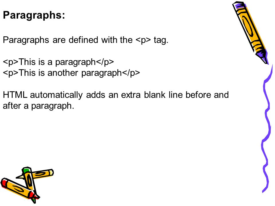 how to make a new paragraph html
