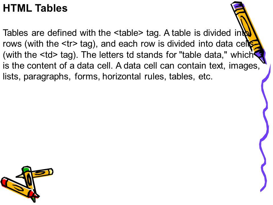 Comp303 internet based programming ppt download for Html table cell