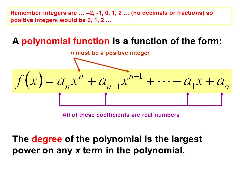 write a polynomial equation with integer coefficients