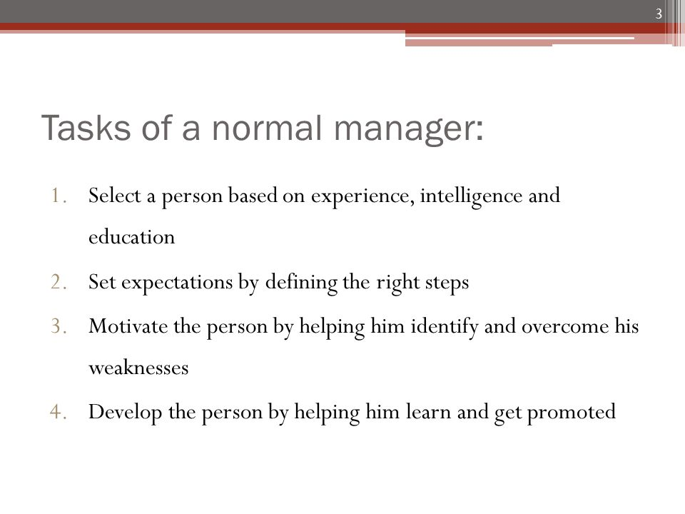manager weaknesses