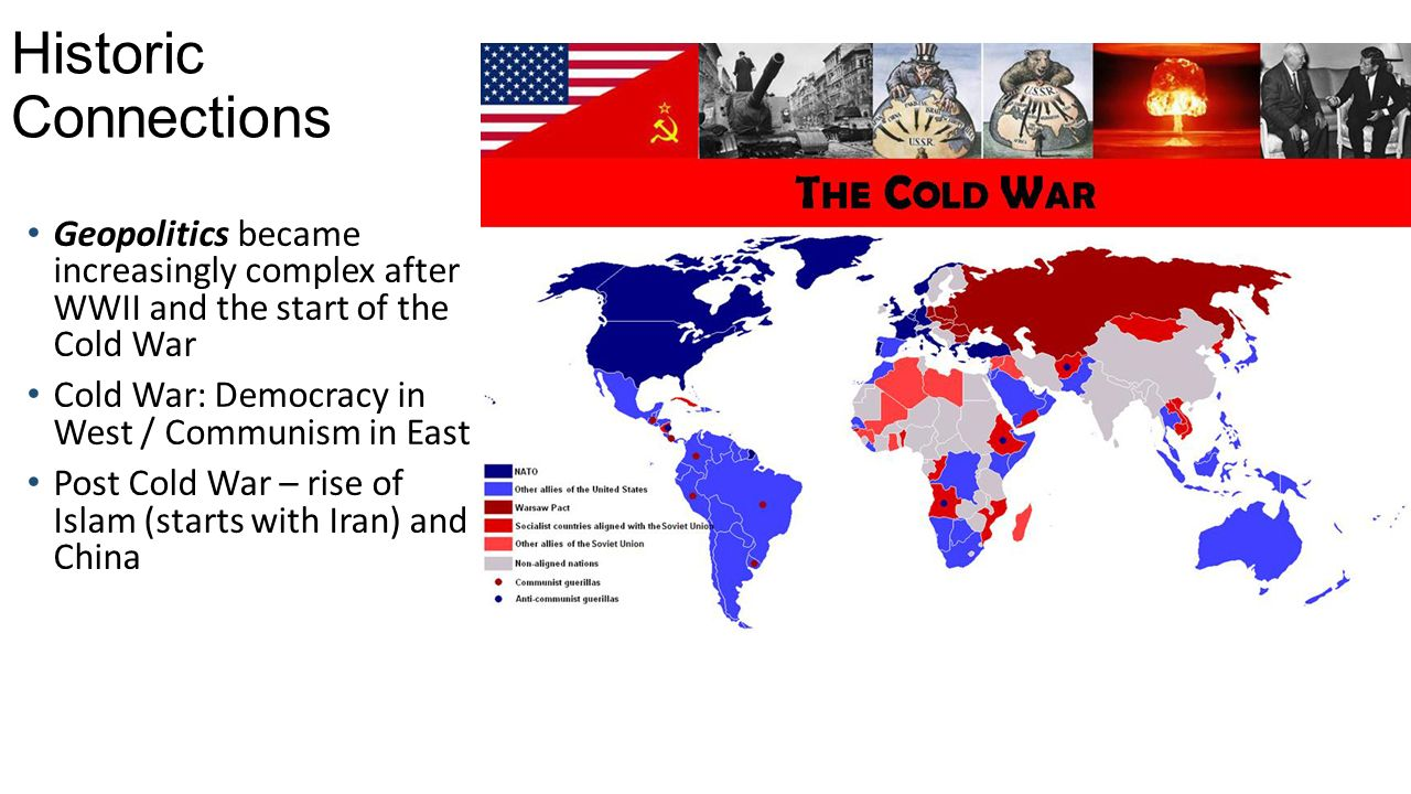 the geography of the cold war The cold war: the geography of containment the conflict between the united states and the soviet union known as the cold war has been examined in many different ways the term cold war was used to indicate that while it was a real conflict, the threat of nuclear weapons made direct armed confrontation too dangerous to contemplate.