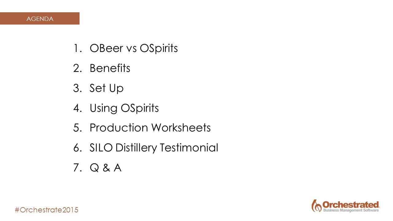 Production Worksheets SILO Distillery Testimonial Q & A