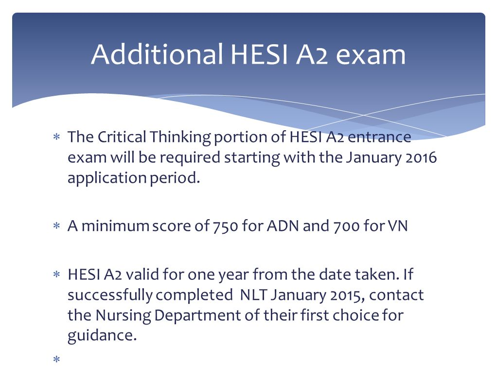 what is a good critical thinking score on the hesi If you really are serious about getting a top score on your hesi a2 exam, you  may  guide recommendations, please check out our recommended hesi  review.