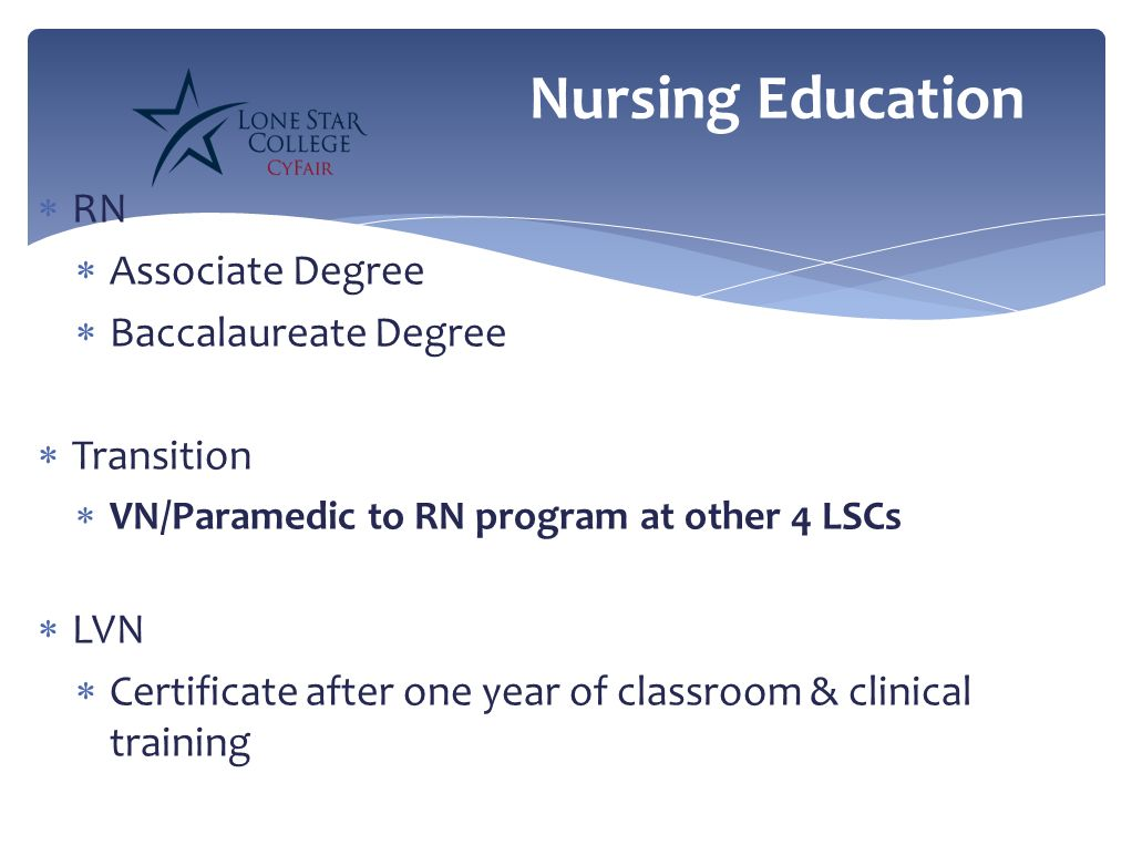 associate degree vs baccalaureate degree nurse Of nurses in the us who hold at least a baccalaureate degree be increased to 80% by 2020, and urged that nurses with associate's degrees and diplomas enter baccalaureate programs within five years of graduation.