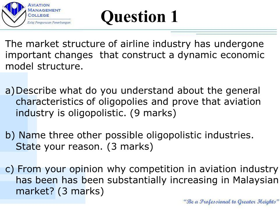 airline industry a competitive structure 24 the link between industry structure and competitive strategy understanding  the current situation airlines face requires a processing of a.