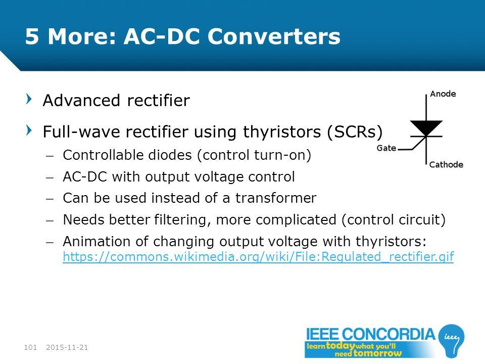 5 More: AC-DC Converters