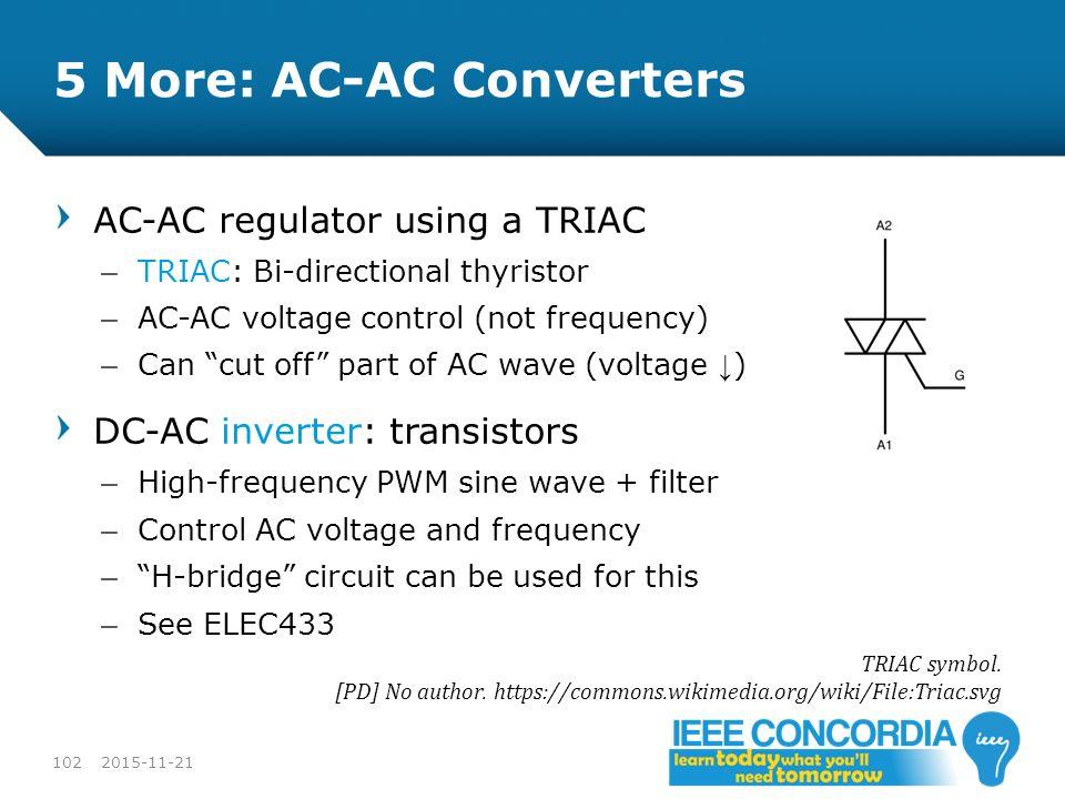 5 More: AC-AC Converters
