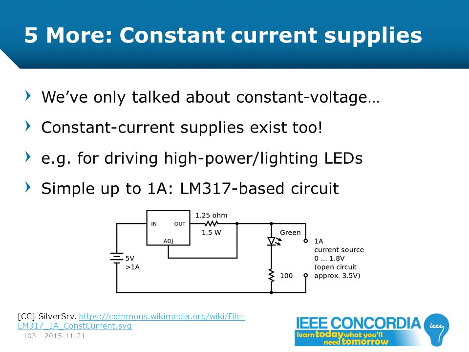 5 More: Constant current supplies