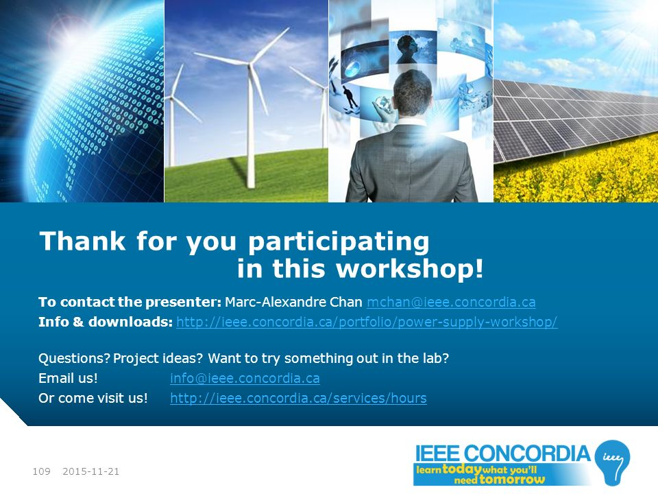 Thank for you participating in this workshop!