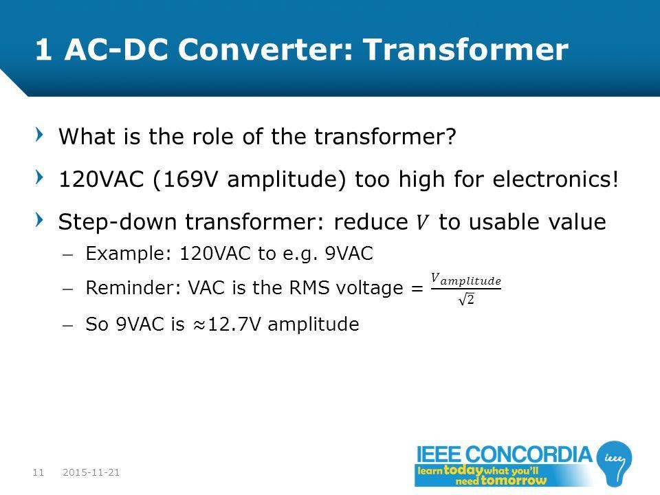 1 AC-DC Converter: Transformer