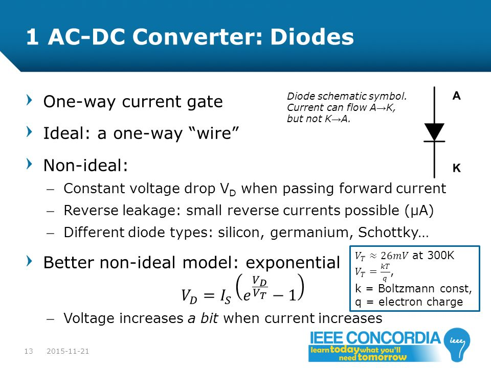 1 AC-DC Converter: Diodes