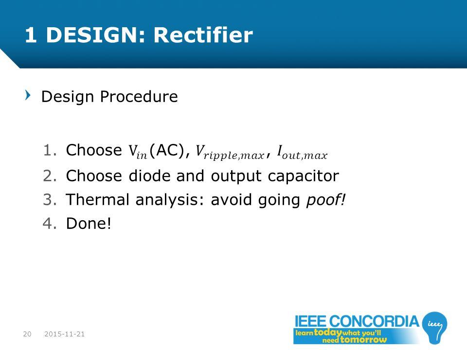 1 DESIGN: Rectifier Design Procedure