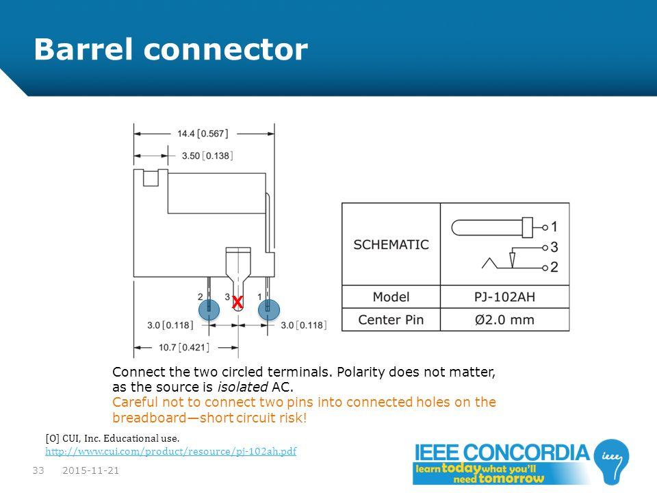 Barrel connector X.