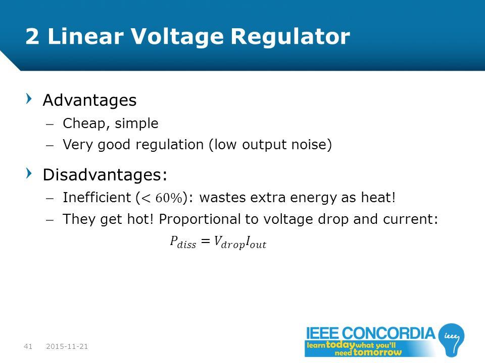 2 Linear Voltage Regulator